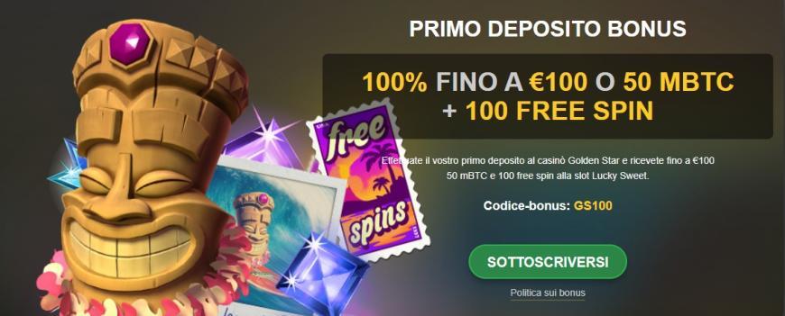 Bonus di Golden Star Casino