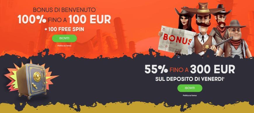 Bonus di Gunsbet