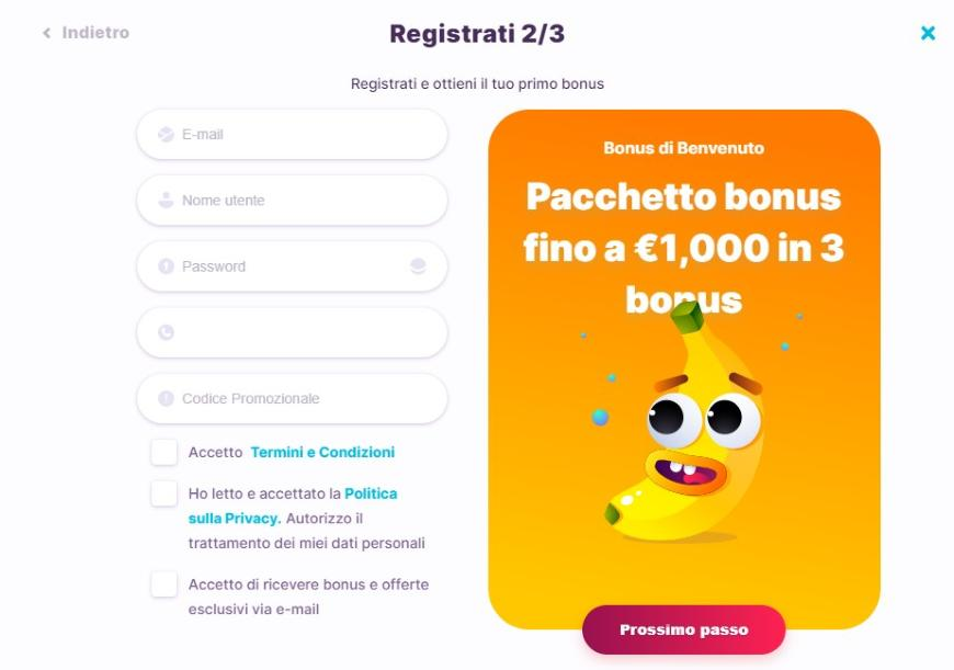 Come registrarsi su Nomini Casino