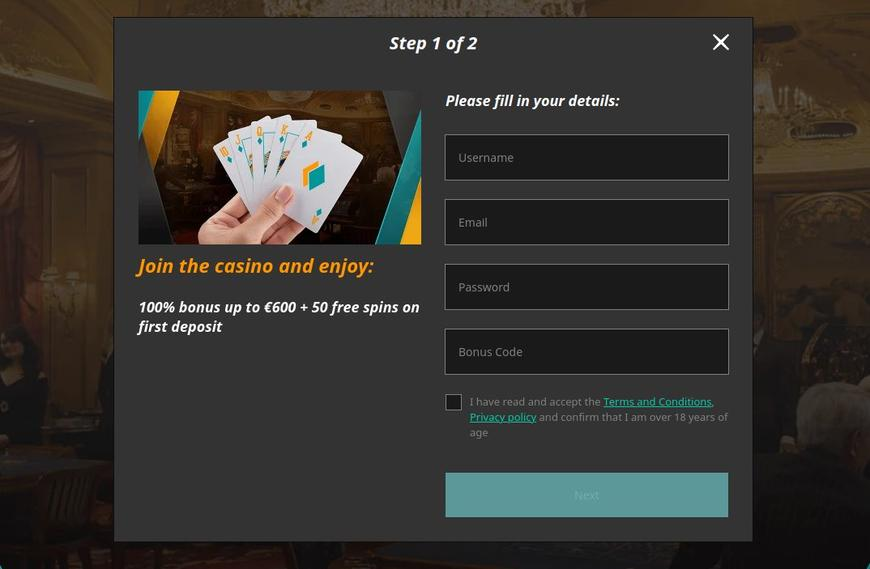 Come registrarsi su Casino Superlines?