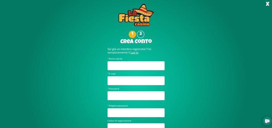 Come registrarsi su La Fiesta?