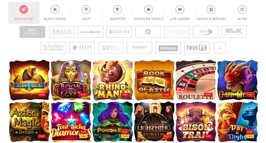 Giochi e intrattenimento di Loki Casino